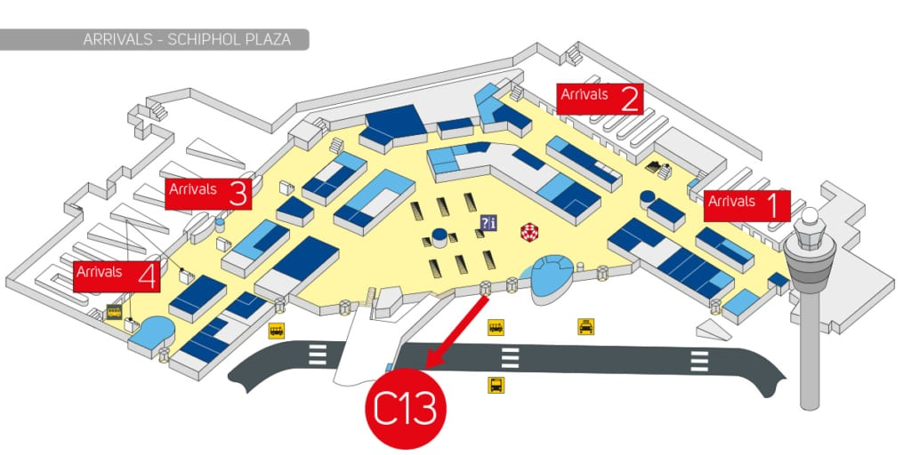 Schiphol Airport Boulevard map